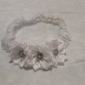 Other - White baby girl headband